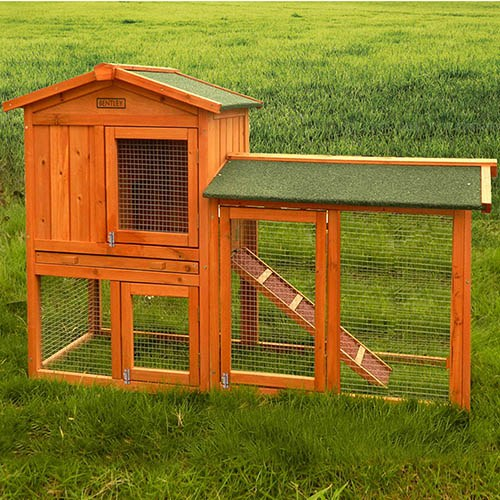 Charles Bentley Premium 2 Storey Wooden Guinea Pig/Rabbit Hutch