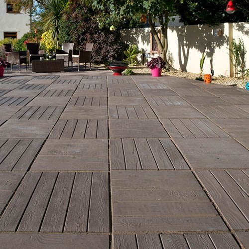 S2D Deckpave Paving Kit 6.25m Brown Oak