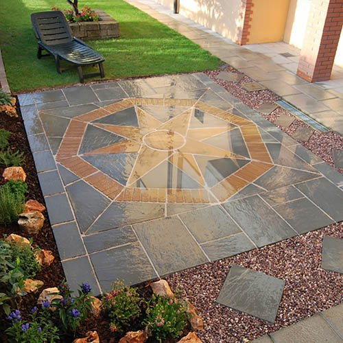 S2D Lakeland Star Patio Kit Portland Grey