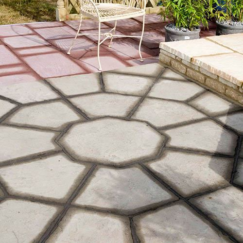 S2D Stratford Octagon 5.06m2 Patio Kit Antique Grey