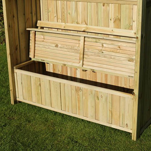Hampshire Arbour with Storage Box and Cushion