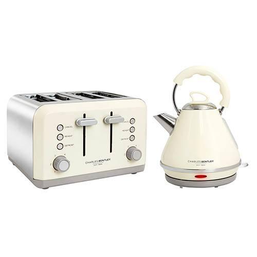 4 Slice Cream Toaster & Pyramid Kettle