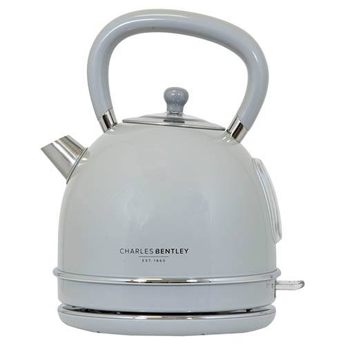 4 Slice Grey Toaster & Dome Kettle