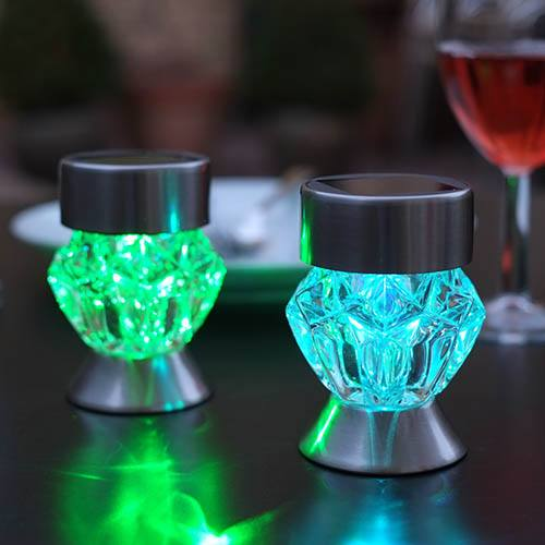 Crystal Stainless Steel Light - 4 Pack