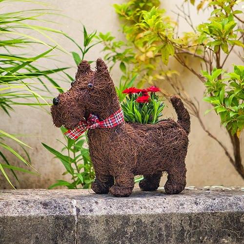 Scottie Dog Planter