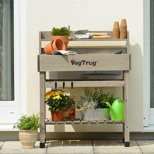 Deluxe Potting Bench - Grey Wash
