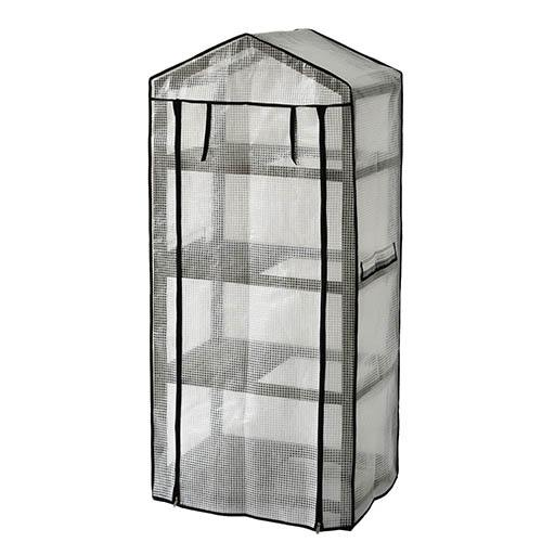 Wooden Greenhouse Nursery & PE Cover - Grey Wash