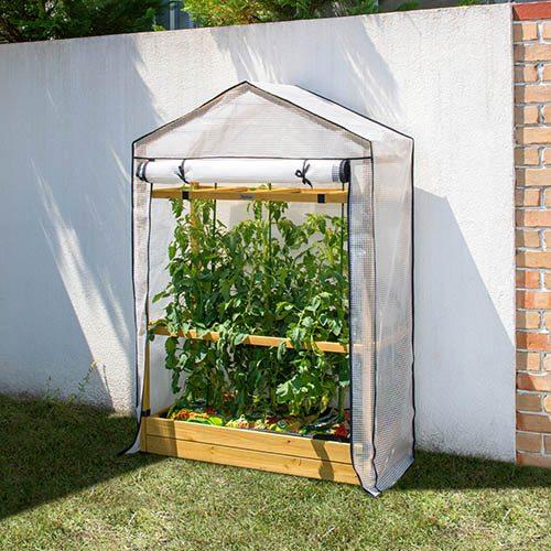 Tomato Greenhouse & PE Cover - Grey Wash
