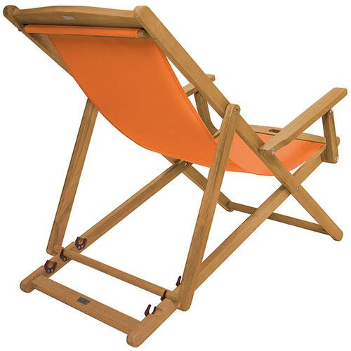 FSC Eucalyptus Wooden Deck Chair - Orange