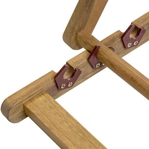 FSC Eucalyptus Wooden Deck Chair - Cream