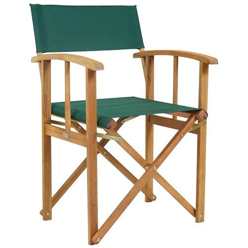 FSC Eucalyptus 1 x Pair of Wooden Director Chairs in Green