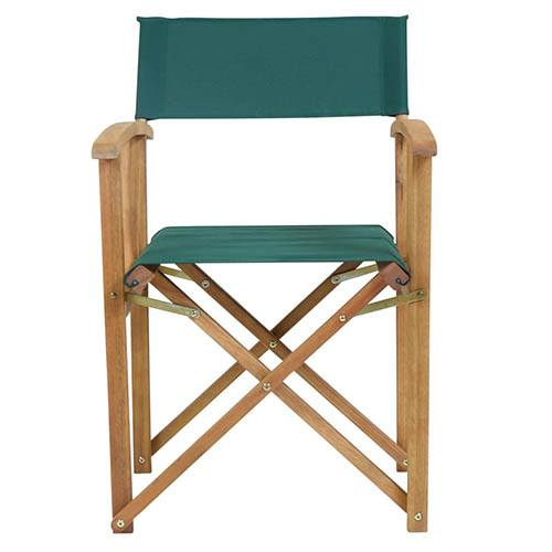 One Pair of Wooden Director Chairs in Green