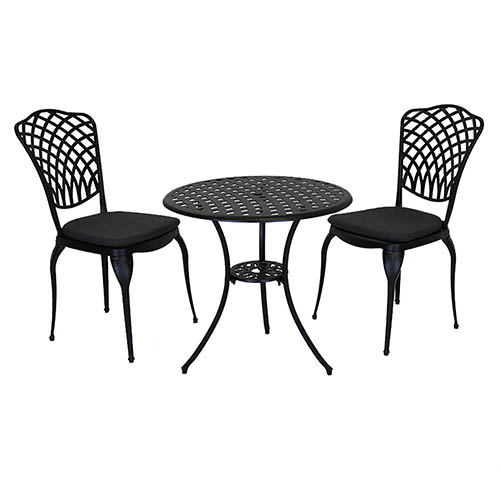 Cast Aluminium Bistro Set - Grey