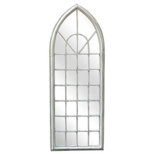 Wall Mounting Arch Mirror - White