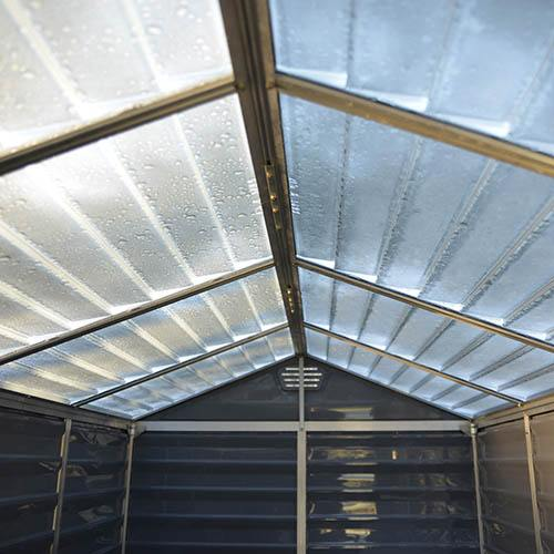 Palram 6x3 Skylight Grey Deco Apex Shed