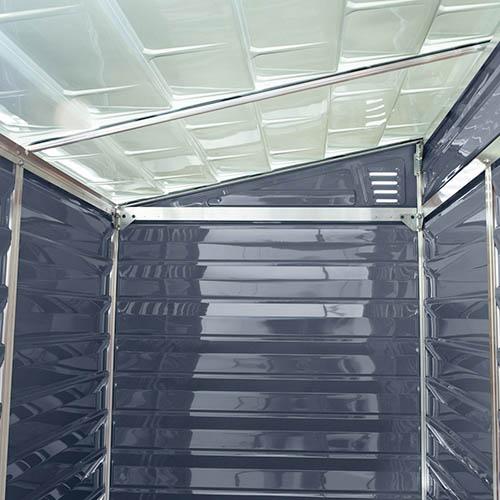 Palram 4x6 Skylight Grey Pent Shed