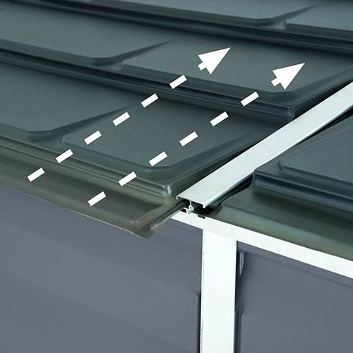 Palram 4x6 Skylight Grey Pent Shed