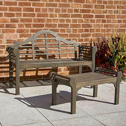 Lutyens Style Bench - Woodland Grey