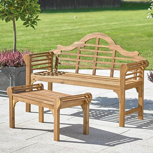 Lutyens Style Bench - Natural