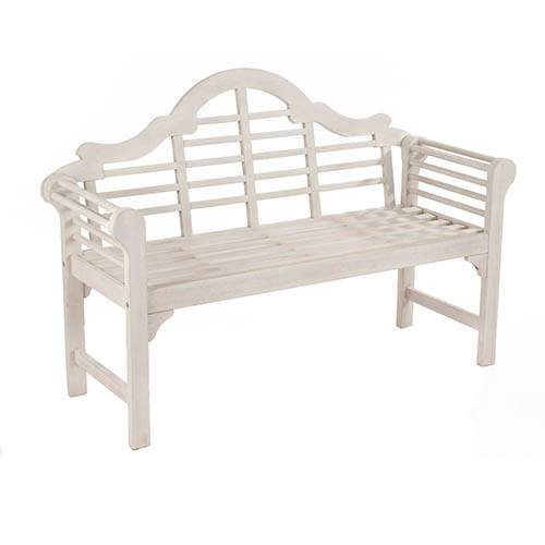 Lutyens Style Bench - Forest White