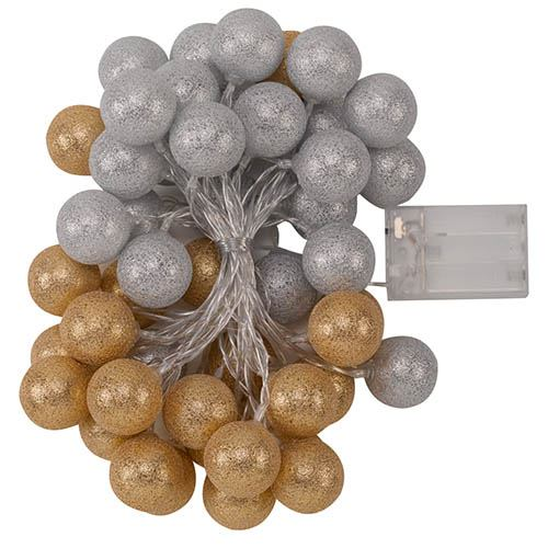 Glo-Globes 4cm Gold and Silver - Set of 50