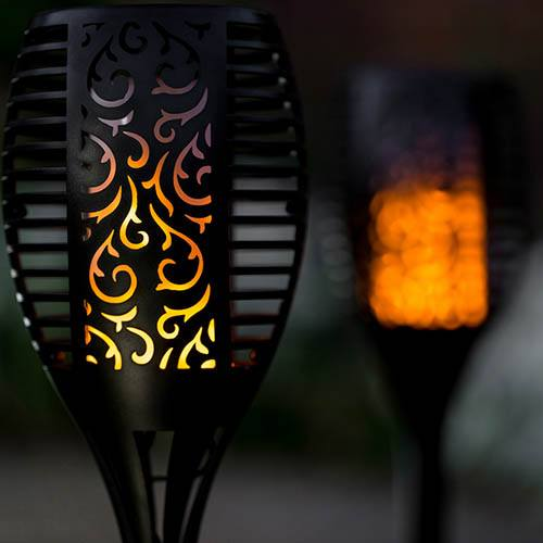 TrueFlame Mini Solar Torch Light 2pk