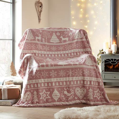 Scandi Throw-Pink Blush
