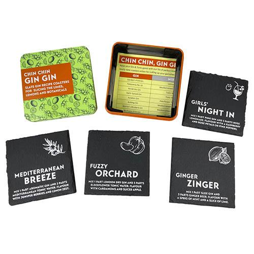 Chin Chin Gin Gin set of 4 Slate Coasters