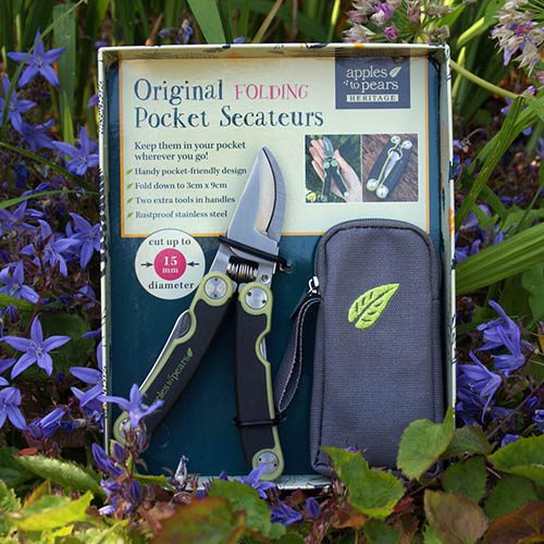 Folding Pocket Secateurs with Pouch