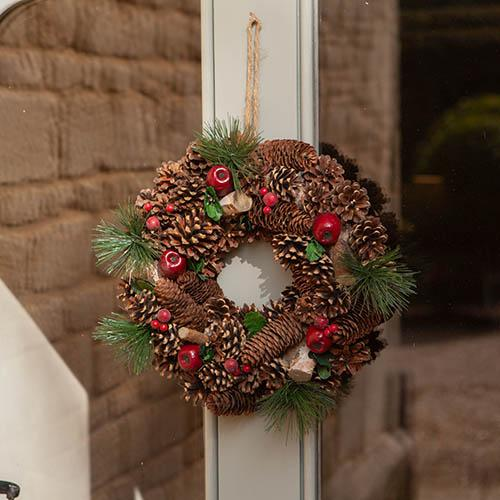 Woodland Theme Artificial Door Wreath