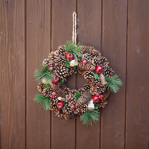 Woodland Theme Artificial Door Wreath