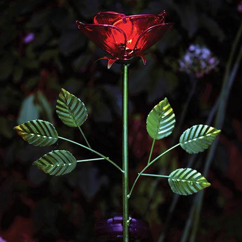 Solar Rose Stake Light