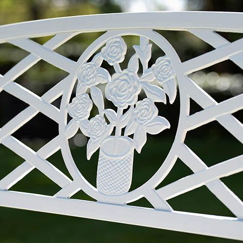 Coalbrookdale Garden Bench White