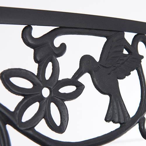 Hummingbird Garden Bench-Black
