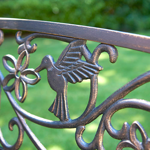Hummingbird Bench-Bronze