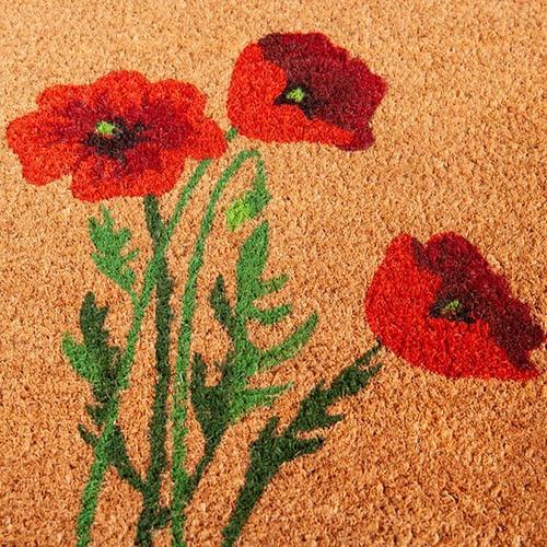 Poppies Coir Mat