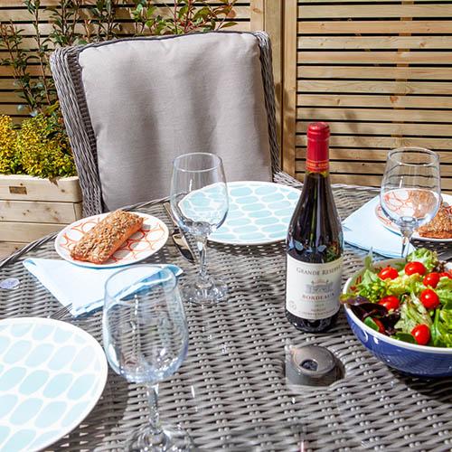 Prestbury 4 Seater Dining Set-Natural Stone