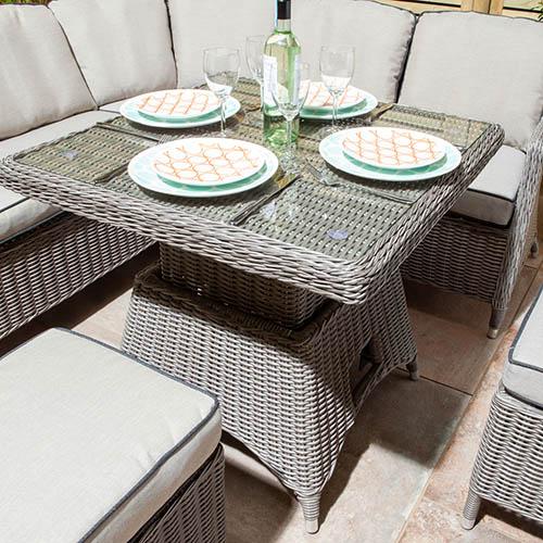 PrestburyCasual Dining Set- Natural Stone