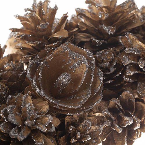 Everlasting Gold Pinecone Wreath