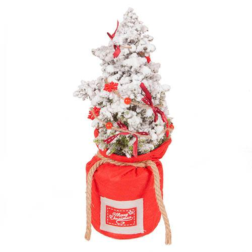 Living Christmas Tree with Red Sack and Garland