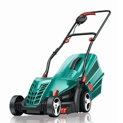 bosch rotak 34r rear roller electric rotary lawn mower. Black Bedroom Furniture Sets. Home Design Ideas