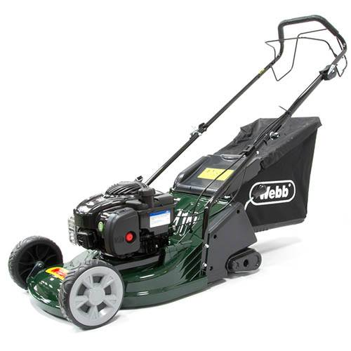 Webb RR17SP 17 Self Propelled Petrol Rear Roller Rotary Lawn Mower