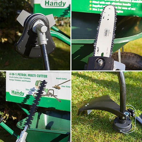 The Handy 26cc 4in1 Petrol Multi Tool Brush Cutter