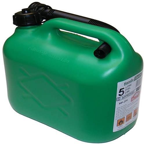 Plastic Petrol Can 5 Litre - Green