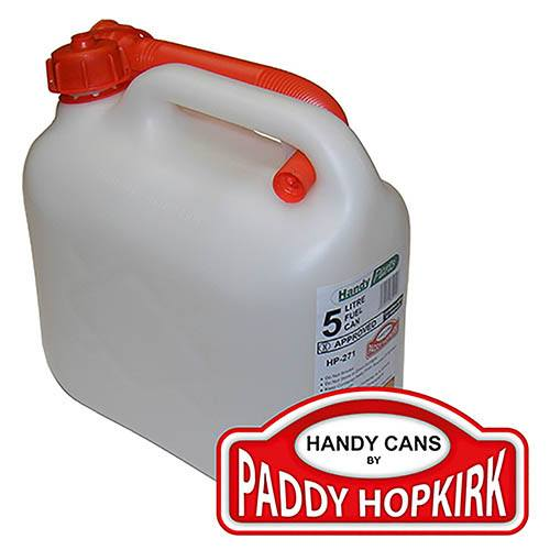Plastic Petrol Can 5 Litre - Clear