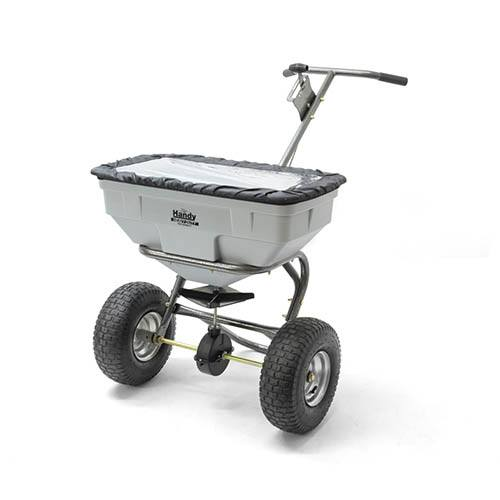 The Handy 57kg (125lbs) Push Broadcast Spreader