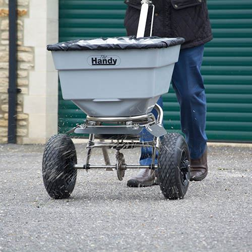 The Handy 100lbs Push Salt Spreader