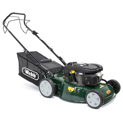 Webb R46SP 18 Self Propelled Steel Deck Petrol Rotary Mower