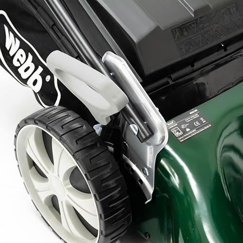 Webb R21HW 21 Self Propelled Steel Deck High Wheel Petrol Rotary Mower