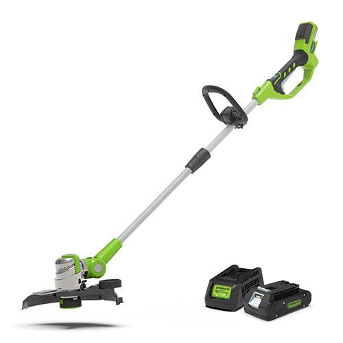 Greenworks 24V Deluxe String Trimmer with 2Ah Battery and Charger